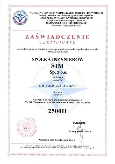 Kod NATO dla SIM